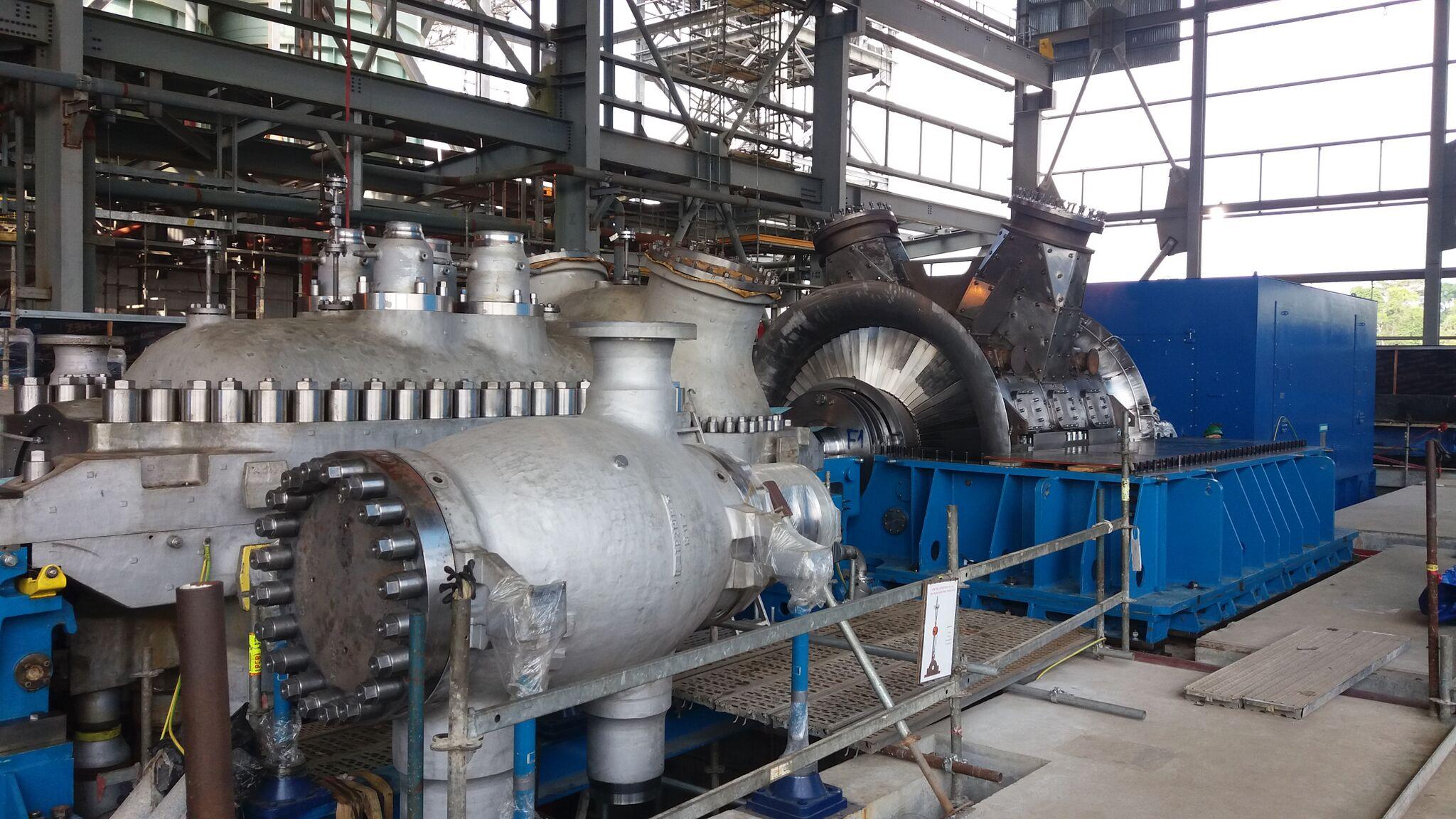 Assembly of new turbine generator seet