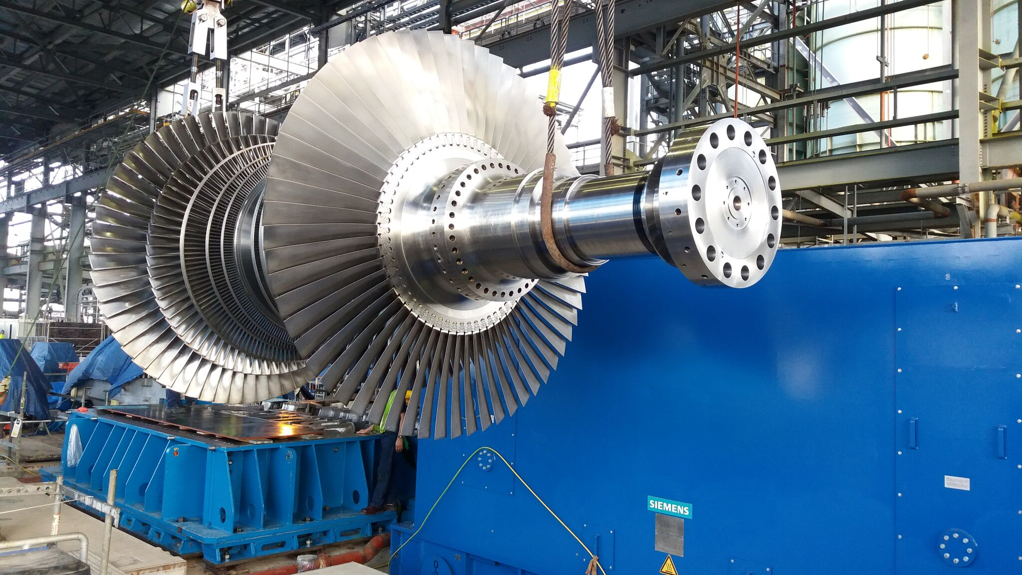Inspection of new LP turbine