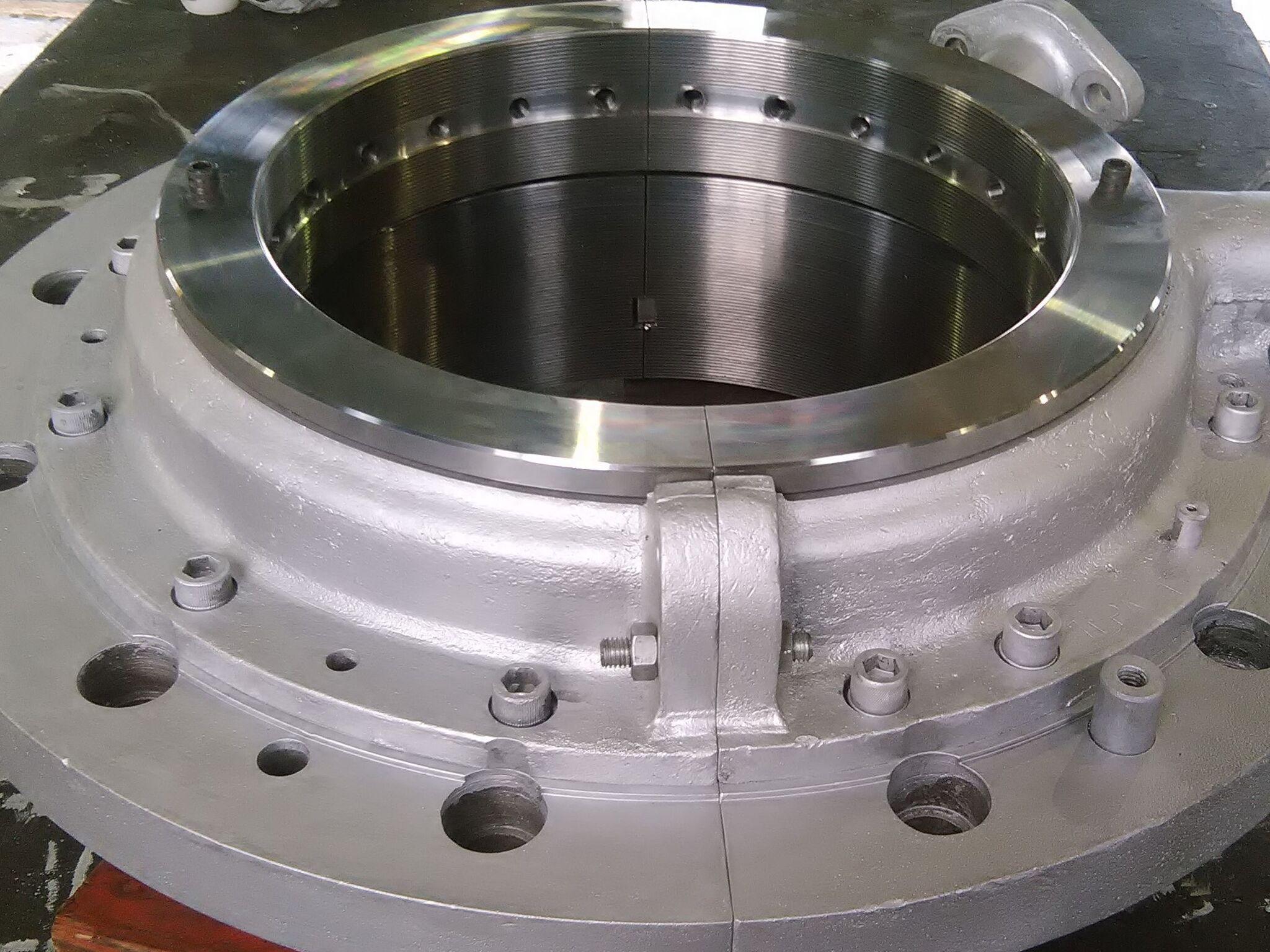 Machined and refurbished gland seal for turbine