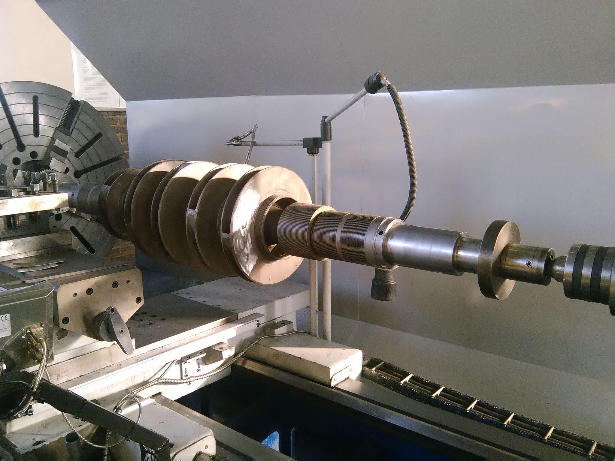 Machining high-pressure pump rotor