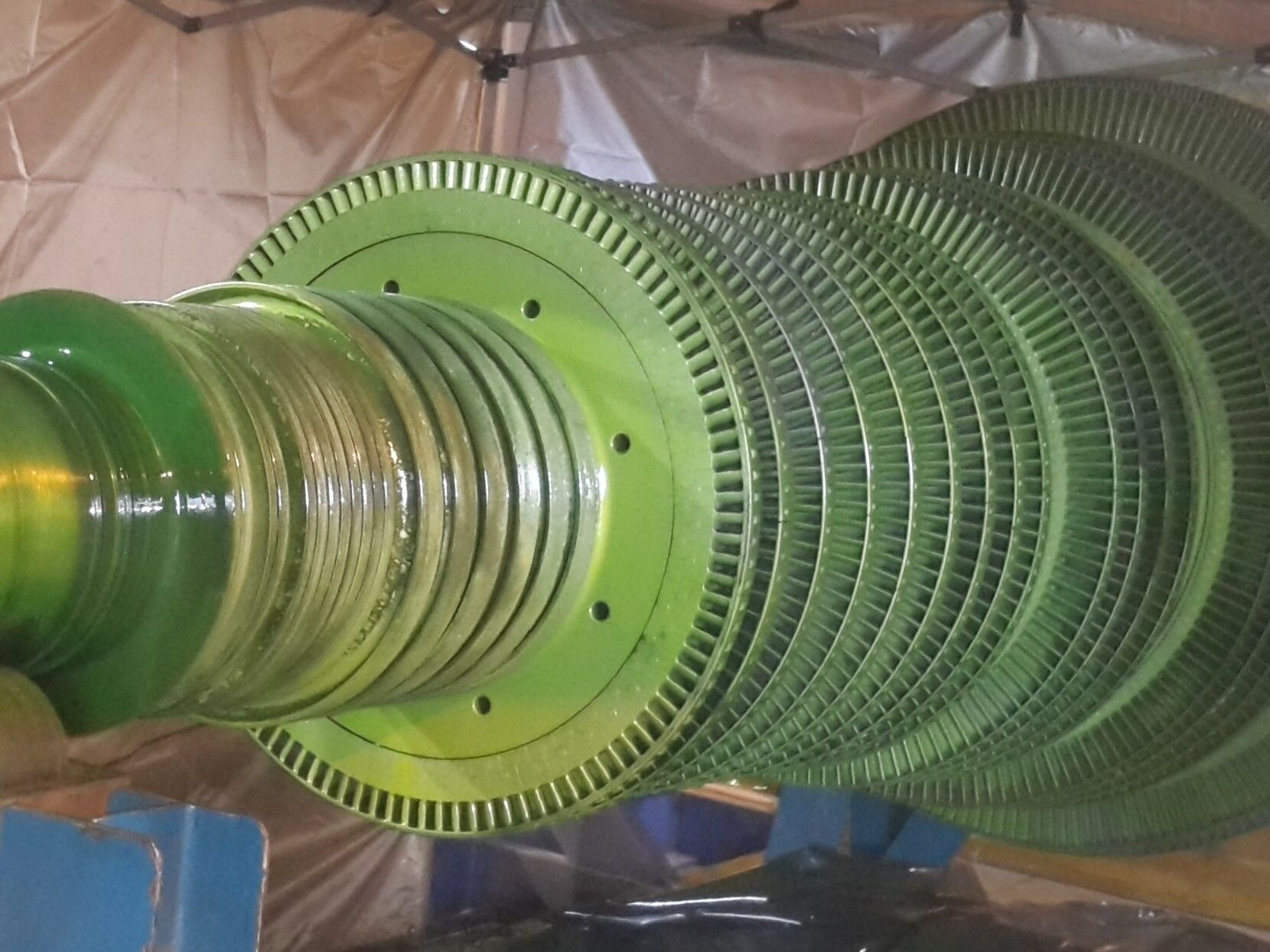 NDT inspection turbine rotor