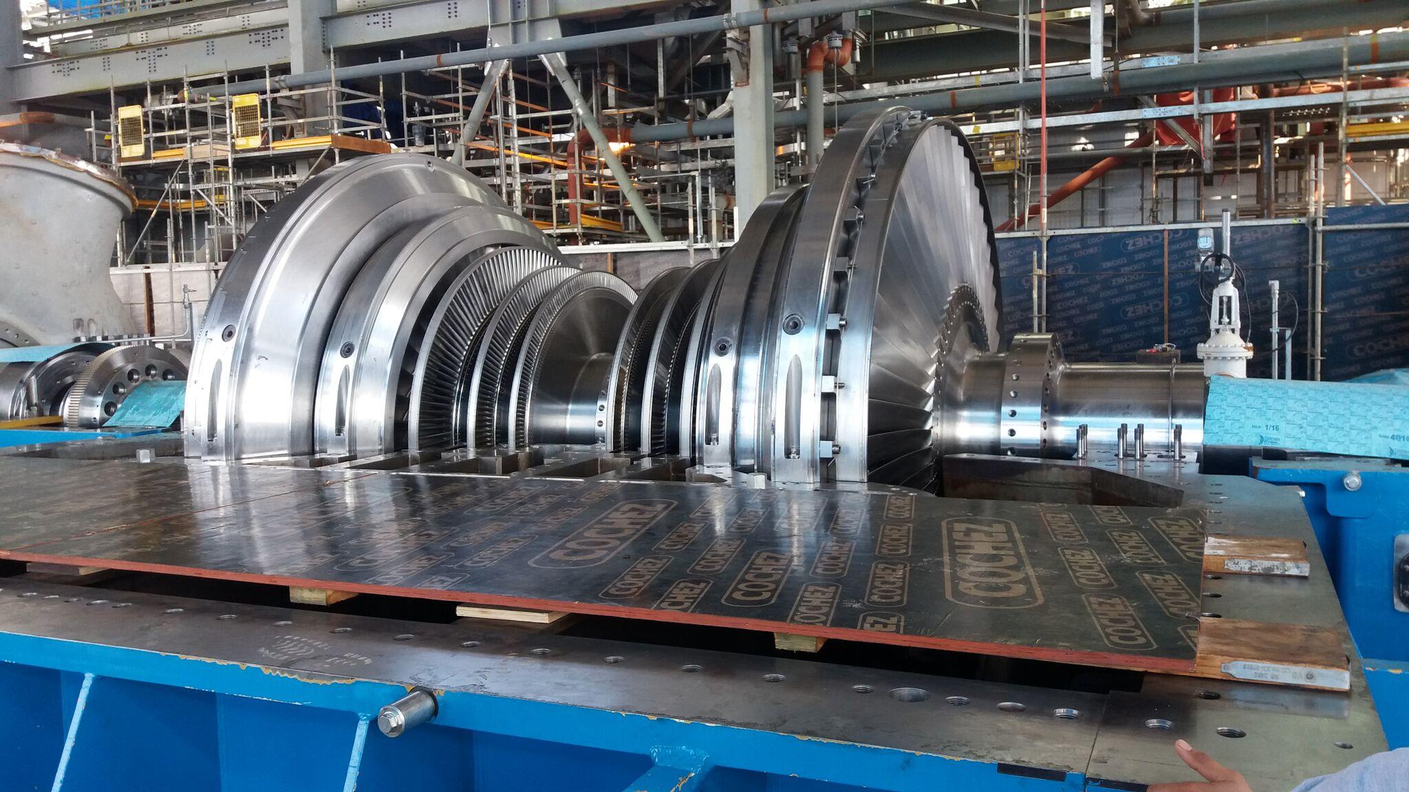 New installation of LP turbine