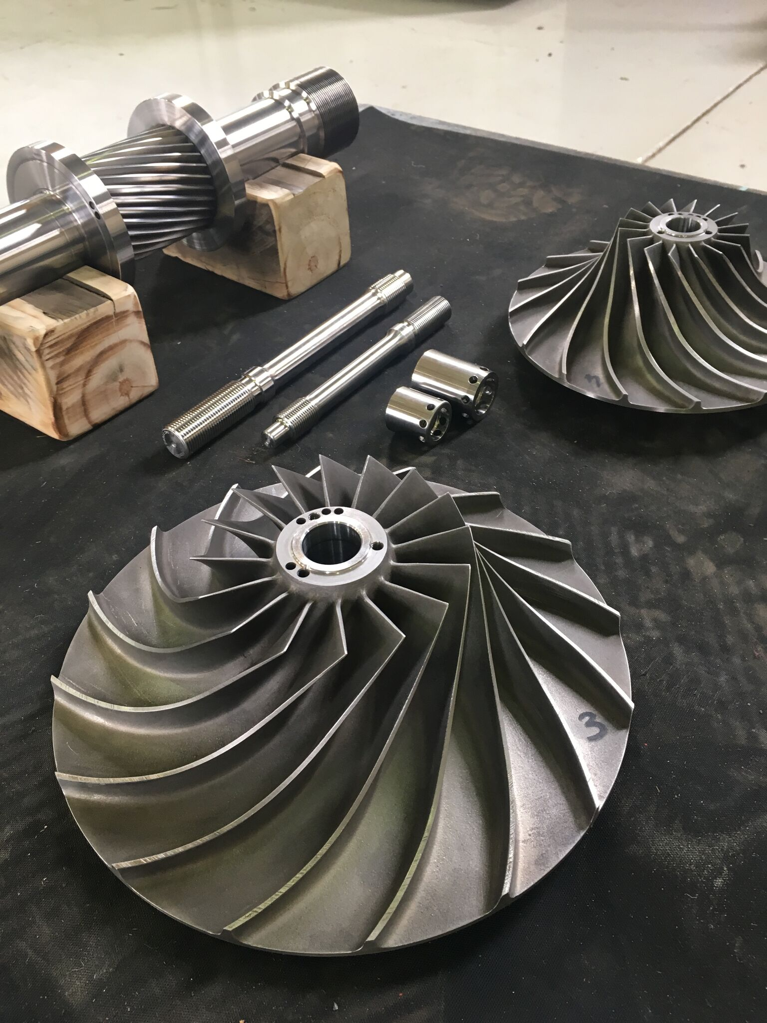 New reverse engineered and manufactured pinion and impeller (2)