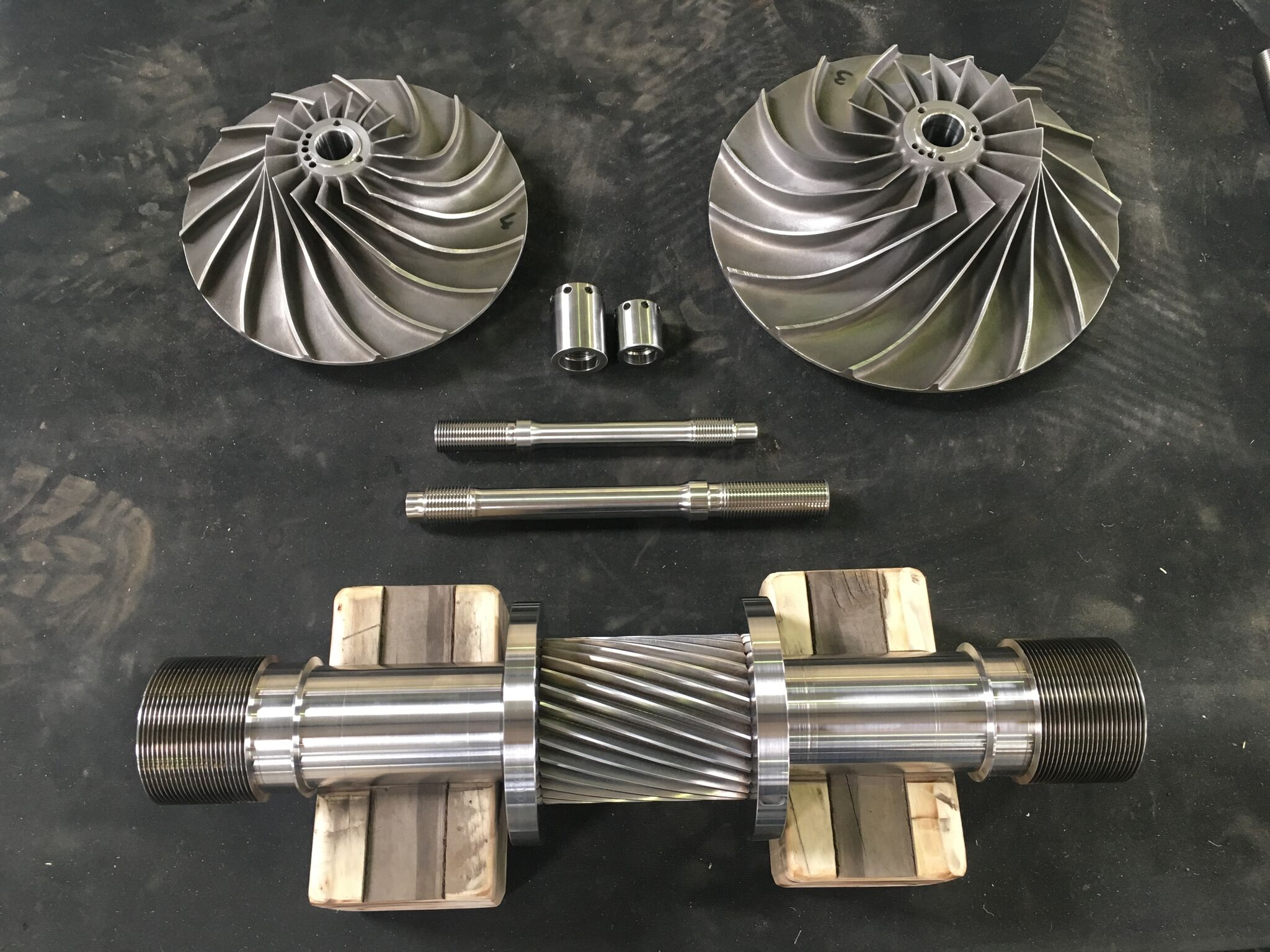 New reverse engineered and manufactured pinion and impeller (3)