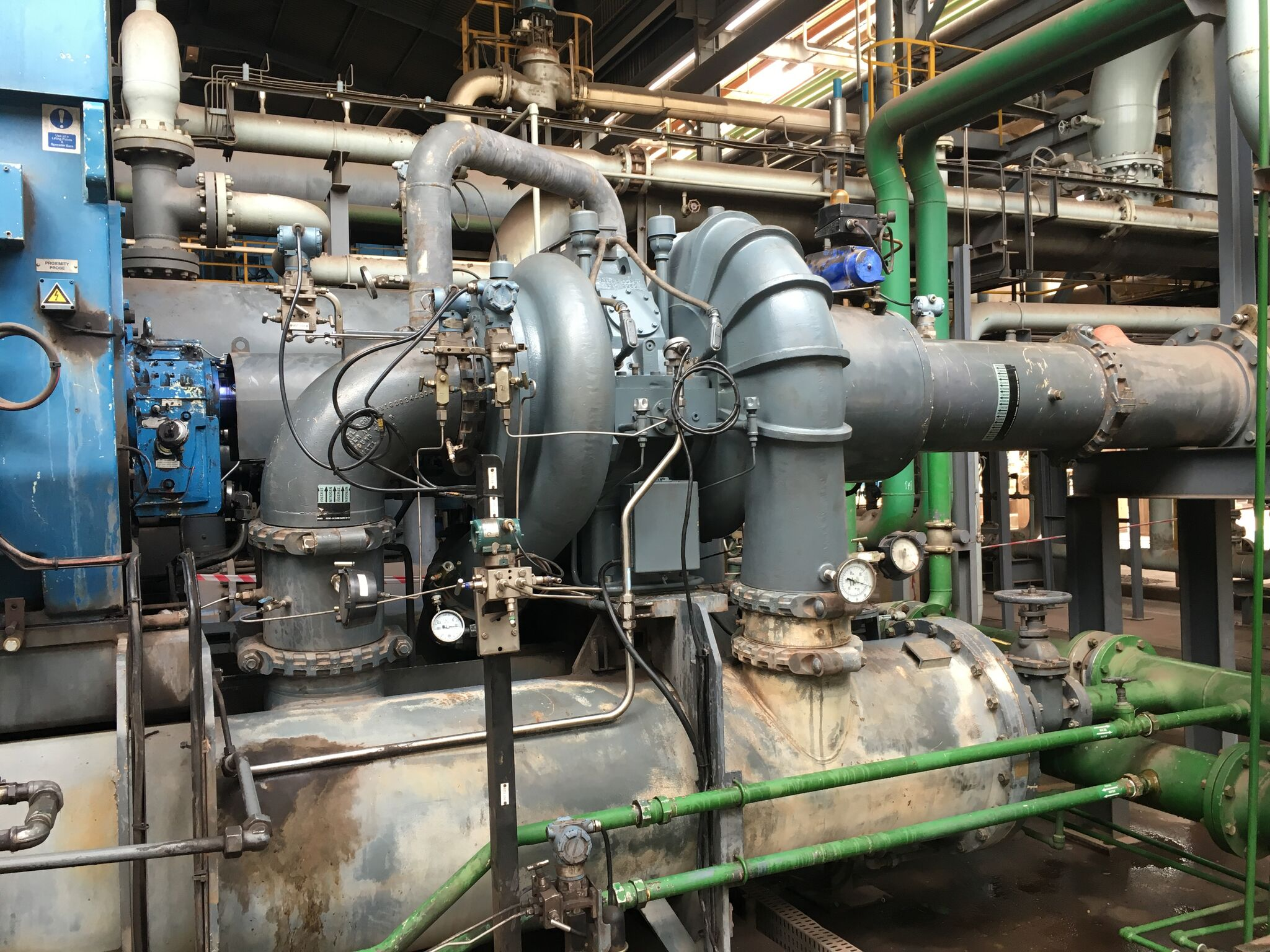 Refurbishment and commissioning of integrally geared compressor