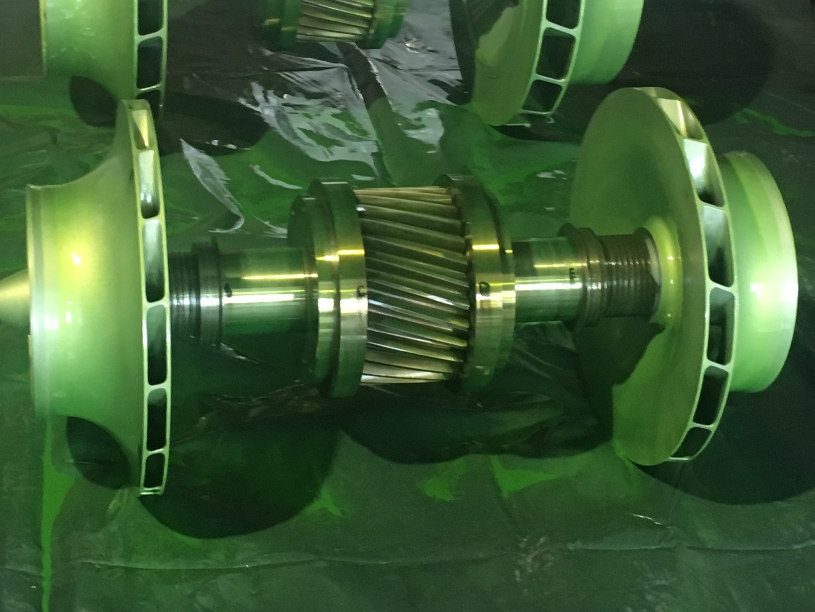 NDT inspection on IG compressor pinions and impellers